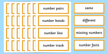 Year 2 Maths Vocabulary Word Cards General - maths, maths word cards, year 2 maths word cards, year 2 maths, general maths words, key maths words, numeracy