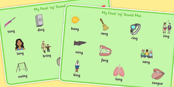 Final 'ng' Sound Word Mats - final ng, sound, word mats, word, mat