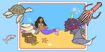 The Little Fish Editable Poster - Tiddler, fish, sea, under the sea, water, ocean, story, storybook, eyfs, early years, ks1, display, edit, signs, labels, small