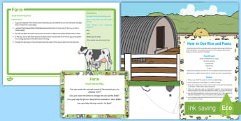 Farm Small World Play Idea and Printable Resource Pack - On the Farm, tuff tray, tuff spot, animals, agriculture, pigs, sheep, ducks, cows, geese, goose