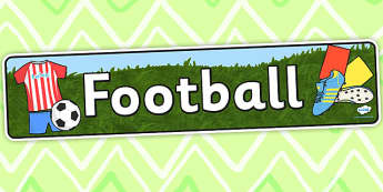 Football Display Banner - Football, Sport, Topic, Display, Soccer, Posters, Freize, Footballs, world cup