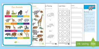 Zoo Animals Early Childhood  Resource Pack - Early Childhood Animals, Animals, Pre-K Animals, K4 Animals, 4K Animals, Preschool Animals, Farm Ani