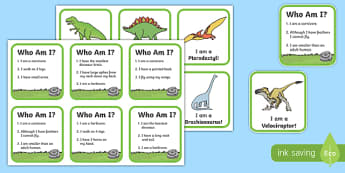 Dinosaur Information Matching Game - dinosaur, information, match, matching, game, activity