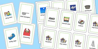 Three Syllable 'st' Blend Playing Cards - st sound, blend, playing cards