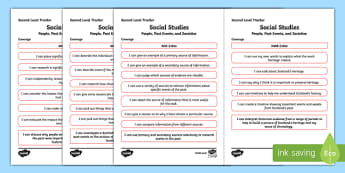 CfE Social Studies (People, Past Events and Societies) Second Level Child Friendly Tracking-Scottish