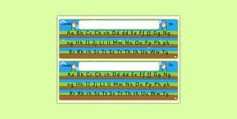Ground, Sky and Grass Desk Strips - welsh, cymraeg, ground, sky, grass, desk