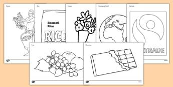 Fairtrade Colouring Sheets - fairtrade, colouring, colour, sheets