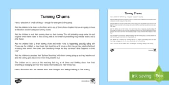 Mindful Me: Tummy Chums Activity - Mindfulness, growth mindset, resilience