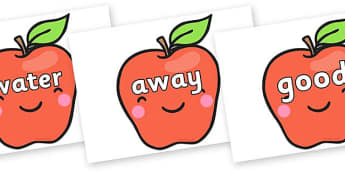 Next 200 Common Words on Cute Smiley Apple - Next 200 Common Words on  - DfES Letters and Sounds, Letters and Sounds, Letters and sounds words, Common words, 200 common words