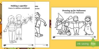 Autumn Action Colouring Pages English/Italian - Autumn Action Colouring Pages - autumn, colouring pages, colour, autmn, autunm, atumn, aurum, aurumn