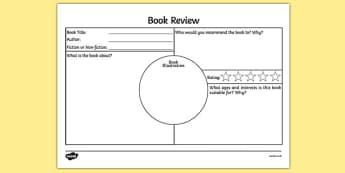 Book Review Template KS2 - book review template ks2, book review, book review sheet, writing a book review, book review template, book review writing frame, ks2 literacy, reading