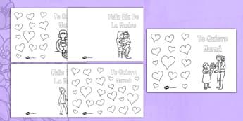 Tarjetas para colorear El día de la madre - el día de la madre, tarjeta, colorear