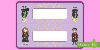 Editable Wizard School Table Signs - Editable Wizard School Table Signs - potion, group signs, table signs, sign, wizard, witch, magic, h