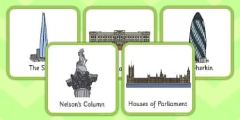 London Small Square Cards - london, small, square, cards, landmarks