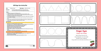 EYFS Follow the Tracks Finger Gym Plan and Resource Pack - Transport, Travel, cars, trucks, tractors, racing, fine motor, gross motor, follow, control, vehicle