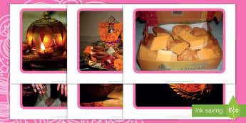 Diwali Fotos für die Klassenraumgestaltung - Divali, Hinduismus, Hindus, Lichterfest, Feier, Sita, Rama,,German