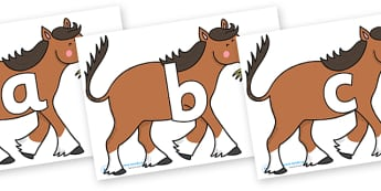 Phoneme Set on Hullabaloo Carthorse to Support Teaching on Farmyard Hullabaloo - Phoneme set, phonemes, phoneme, Letters and Sounds, DfES, display, Phase 1, Phase 2, Phase 3, Phase 5, Foundation, Literacy