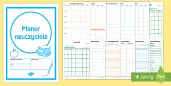 Planer nauczyciela - kalendarz, notatki, organizer, dokumentacja, dokumenty, nauczyciela,Polish