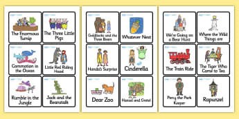 Story Book Cards - story, book, cards, story book, book cards, story cards, 4 per A4, story sequencing, short story, story ordering, order of stories