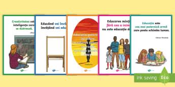 Citate despre educație Planșe - septembrie, început de an școlar, revenirea la școală, mesaje motivaționale, dezvoltare persona