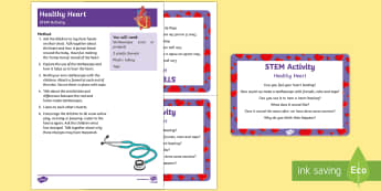 Healthy Heart STEM Activity and Prompt Card Pack - People Who Help Us, teacher, role, job, doctor, paramedic, nurse, ambulance, heart, stethoscope, hos