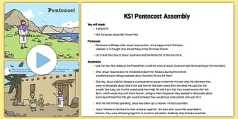 Pentecost Assembly Pack - Pentecost, Whit, Whitsun, ascension