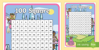 Fairy Themed 100 Square Display Poster - Fairy Themed 100 Square -fairy, fairies, counting aid, count, 100 square,counting, counting, 100 squ