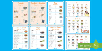 Role Play Menu Cards Activity Pack Te Reo Māori/English - Te reo maori, maori role play, role play, cafe, cafe role play