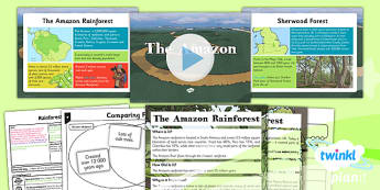 PlanIt - Geography Year 3 - Rainforests Lesson 5: The Amazon Lesson Pack - geography, rainforest, tropical, jungle, biome, compare, forest, Amazon