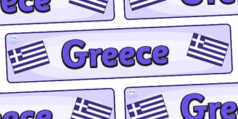 Greece Display Banner - Greece, Olympics, Olympic Games, sports, Olympic, London, 2012, display, banner, sign, poster, activity, Olympic torch, flag, countries, medal, Olympic Rings, mascots, flame, compete, events, tennis, athlete, swimming
