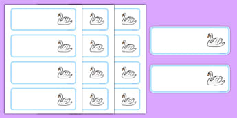 Swan Themed Editable Drawer-Peg-Name Labels (Colourful) - Themed Classroom Label Templates, Resource Labels, Name Labels, Editable Labels, Drawer Labels, Coat Peg Labels, Peg Label, KS1 Labels, Foundation Labels, Foundation Stage Labels, Teaching Lab