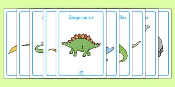 Dinosaur Display Posters - Dinosaurs, dionsaur A4, display, posters, t-rex, stegosaurus, raptor, iguanodon, tyrannasaurus rex