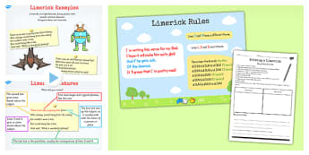 Recognise Different Forms Poetry Limericks Lesson Teaching Pack