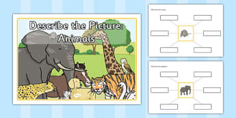 Describe the Picture - Animals - describe, picture, animals, sen
