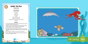 Under the Sea Sensory Bag - Under the Sea, mess free, mess-free, fish, ocean, baby, babies