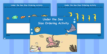 Under the Sea Size Ordering Flipchart - storybook, stories, order