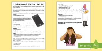Who Can I Talk to? Depression Parent Guidance and Support - Key Stage 4 Mental Health