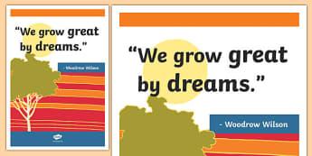 Wilson Inspirational Classroom Quote Display Poster - usa, america, inspirational quote, display, motivation, inspiration, Wilson