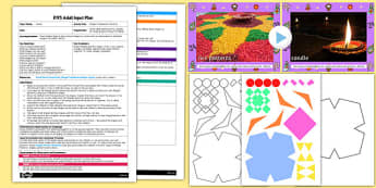 Rangoli Tessellation Patterns EYFS Adult Input Plan and Resource Pack