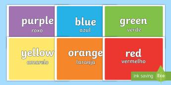 Colours Display Pack English/Portuguese - Colours Display Pack - display, visual aid, spectrum, rainbow, art, design, images, colous, eal