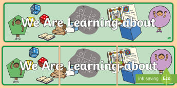We Are Learning About Display Banner  -  we are learning to, display banner, display