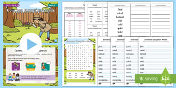 Year 2 Term 1B Week 6 Spelling Pack - Spelling Lists, Word Lists, Autumn Term, List Pack, SPaG