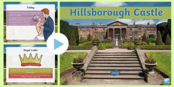 Hillsborough Castle PowerPoint -  Hillsborough Castle, Royal, family, history, Queen, residence, governement