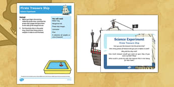 EYFS Pirate Treasure Ship Science Experiment and Prompt Card Pack