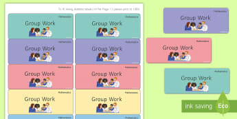 Maths 'Group Work' Stickers - Marking, Feedback, Stickers, Rewards, Learning, Attitude, Time-Saving, Positive, Praise