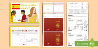 Spanish Open Evening Activity Pack - parents, Year 6, introduction, starter, pack, games, carousel, transition