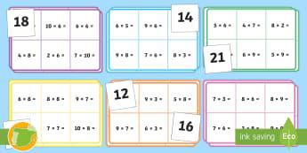 Bingo: Tablas de multiplicar - x6, x7, x8 y x9 - por, multiplicar, juego, actividad, bingo, multiplicación, mates, matemáticas, x6, x7, x8, x9, por