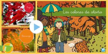 Presentación: Los colores de otoño - Fotos - color, estaciones, estación, temático, plástica, vocabulario, ,Spanish