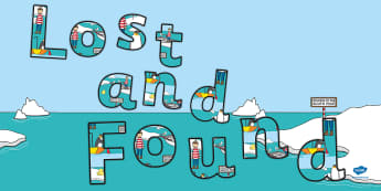 Title of the Book Display Lettering to Support Teaching on Lost and Found - lost, found