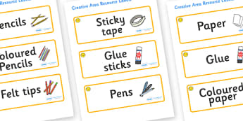 Welcome to our class- Smiley Face Themed Editable Creative Area Resource Labels - Themed creative resource labels, Label template, Resource Label, Name Labels, Editable Labels, Drawer Labels, KS1 Labels, Foundation Labels, Foundation Stage Labels